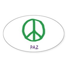 paz Oval Decal