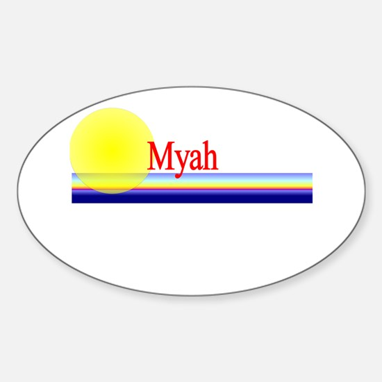 Myah Oval Decal
