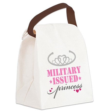 Military issued princess.png Canvas Lunch Bag