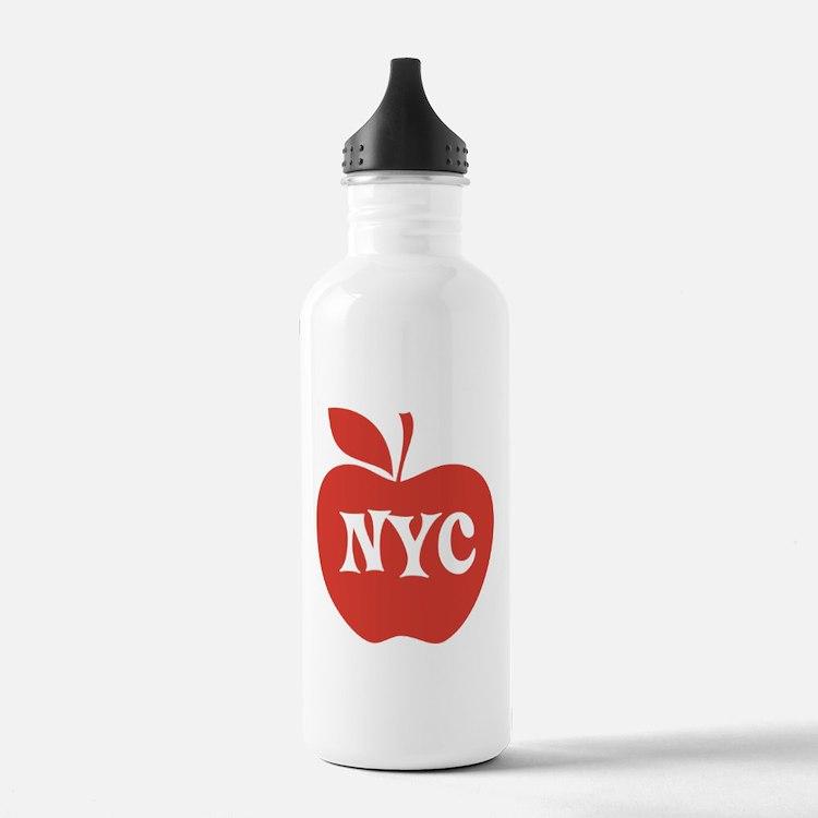 New York CIty Big Red Apple Water Bottle