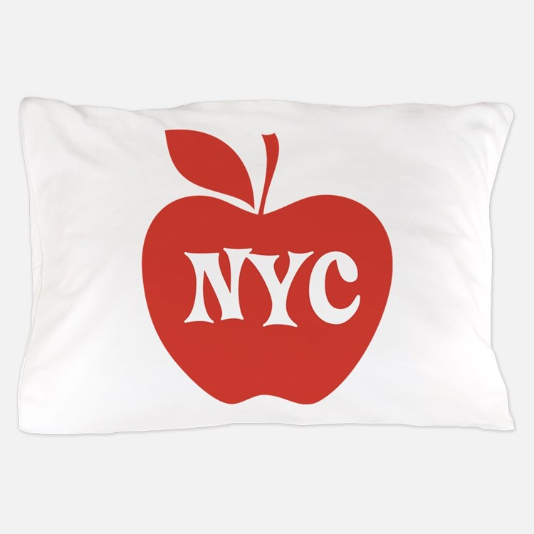 New York CIty Big Red Apple Pillow Case