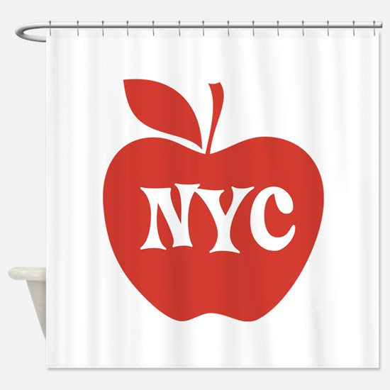 New York CIty Big Red Apple Shower Curtain