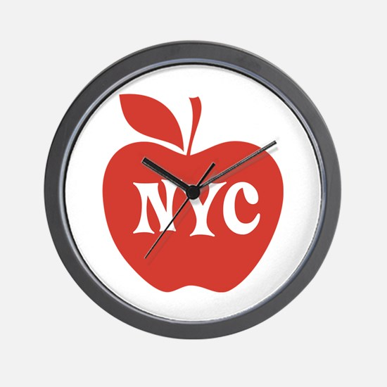 New York CIty Big Red Apple Wall Clock