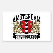 Amsterdam Netherlands Sticker (Rectangle)