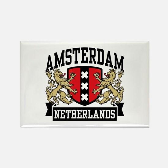 Amsterdam Netherlands Rectangle Magnet