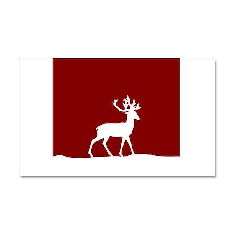 Deer in the snow Car Magnet 20 x 12