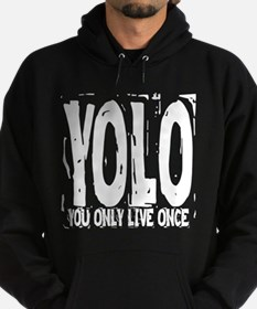 YOLO: You Only Live Once Hoodie (dark)