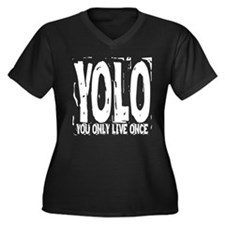 YOLO: You Only Live Once Women's Plus Size V-Neck