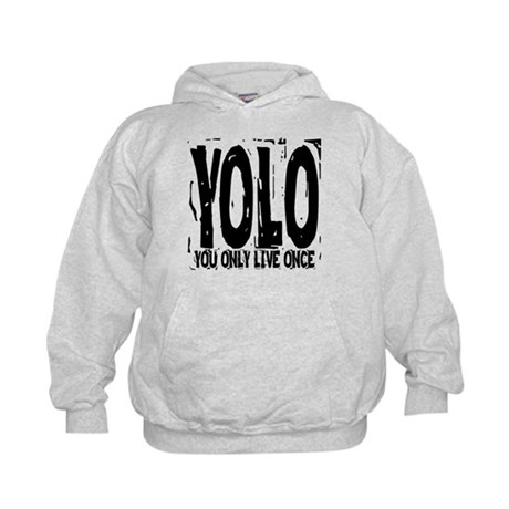 YOLO: You Only Live Once Kids Hoodie