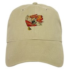 Scuba Diving Flag Skull Caribbean Baseball Cap
