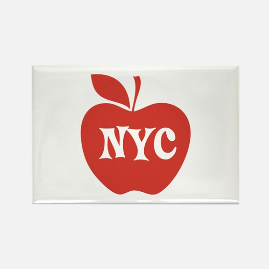 New York CIty Big Red Apple Rectangle Magnet