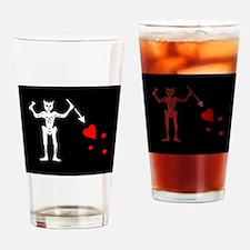Blackbeard Flag Drinking Glass