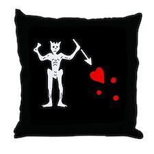 Blackbeard Flag Throw Pillow