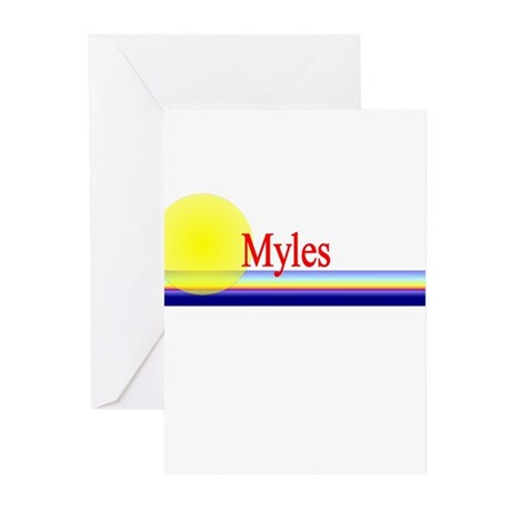 Myles Greeting Cards (Pk of 10)
