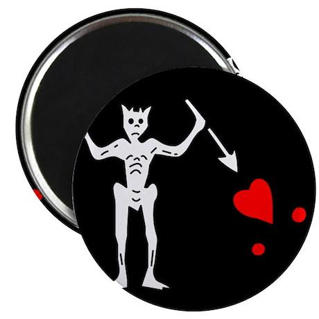 """Blackbeard Flag 2.25"""" Magnet (100 pack)"""