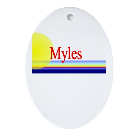 Myles Oval Ornament