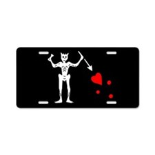 Blackbeard Flag Aluminum License Plate