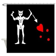Blackbeard Flag Shower Curtain