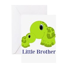 Little Brother BabyTurtle Greeting Card