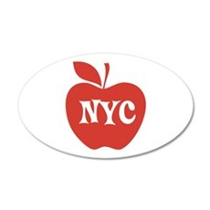 New York CIty Big Red Apple Wall Decal