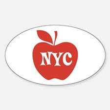 New York CIty Big Red Apple Decal