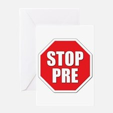 Stop Pre Prefontaine Greeting Card