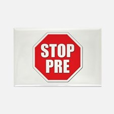 Stop Pre Prefontaine Rectangle Magnet