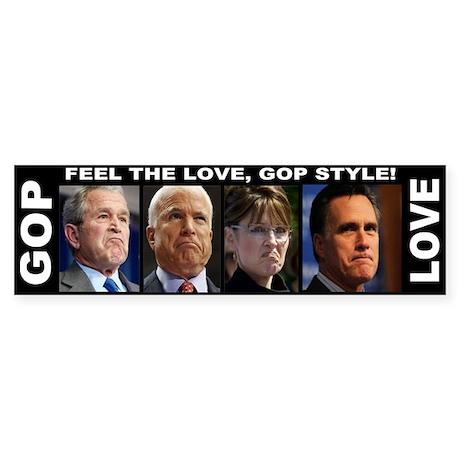 Feel the Love! Sticker (Bumper)