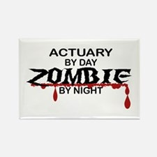 Actuary Zombie Rectangle Magnet