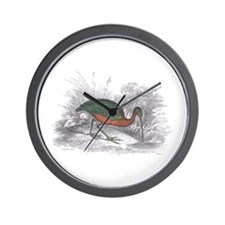 Glossy Ibis Bird Wall Clock