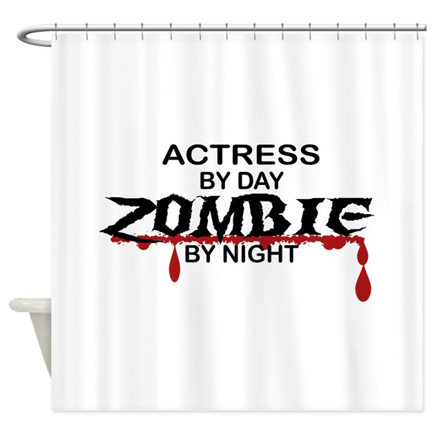 Actress Zombie Shower Curtain By Poor Richards