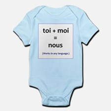 toi + moi = nous Infant Bodysuit