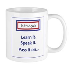 French Learn, Speak, Pass Mug