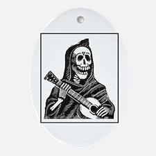 Calavera with Guitar Oval Ornament
