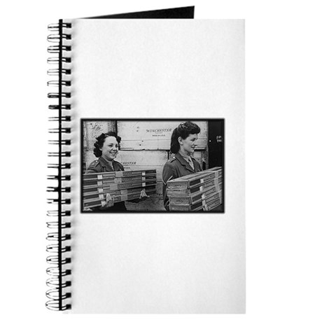 WWII Girls carrying rifles Journal