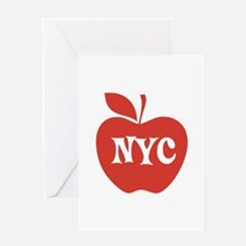 New York CIty Big Red Apple Greeting Card