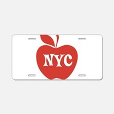 New York CIty Big Red Apple Aluminum License Plate