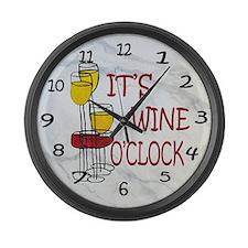 Its Wine OClock Large Wall Clock
