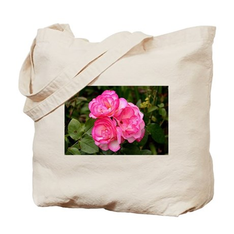 Rose, pink and white Tote Bag