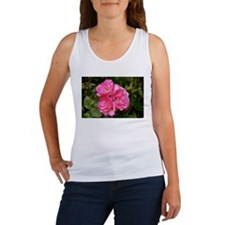 Rose, pink and white Women's Tank Top