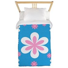 Flower and Butterfly Twin Duvet