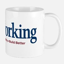 Mug with Popular Woodworking logo and motto
