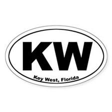 KW (Key West) Oval Decal