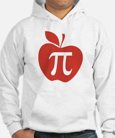 Red Apple Pi Math Humor Hoodie