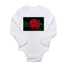 Rose, red Long Sleeve Infant Bodysuit