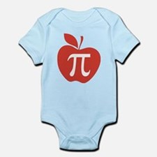 Red Apple Pi Math Humor Infant Bodysuit