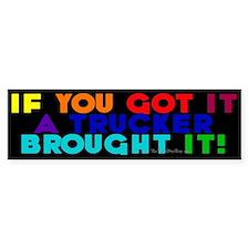 Rainbow Colors Bumper Car Sticker