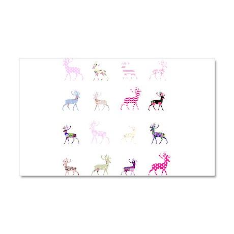 Pink deer pattern Car Magnet 20 x 12