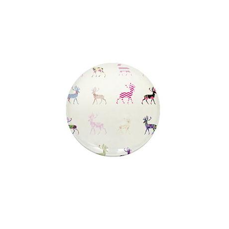 Pink deer pattern Mini Button