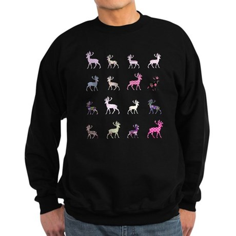 Pink deer pattern Sweatshirt (dark)
